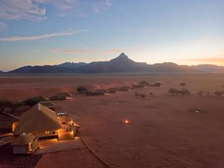 2Kwessi Dunes - Aerial lodge at dusk.jpg